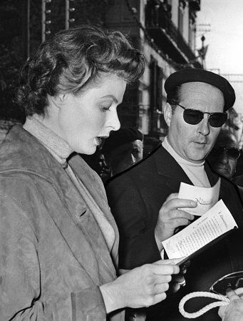 Ingrid Bergman  and Roberto Rossellini