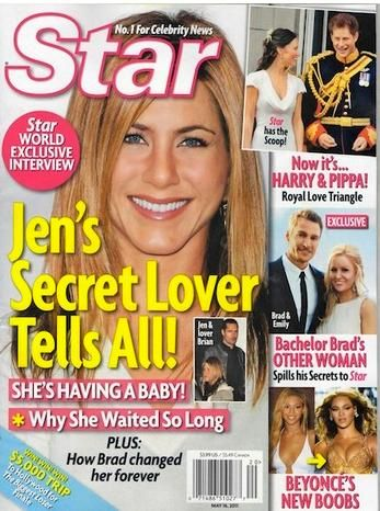 Jennifer Aniston - Star Magazine Cover [United States] (15 May 2011)