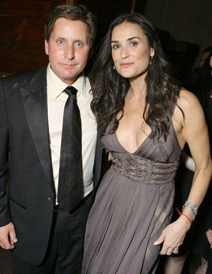 Emilio Estevez Demi Moore and