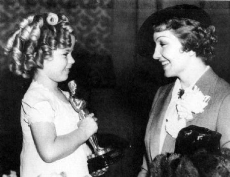 Claudette Colbert  & Shirley Temple