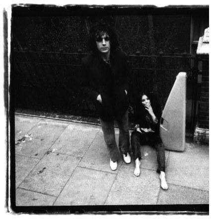 Iggy Syd Barrett and  the model Unknown