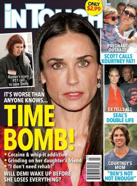 Demi Moore, Heidi Klum, Seal - In Touch Weekly Magazine Cover [United States] (13 February 2012)
