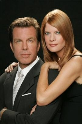 Michelle Stafford  with co-star Peter Bergman