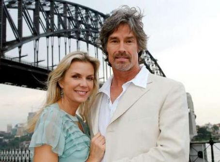 Katherine Kelly Lang  with co-star Ronn Moss