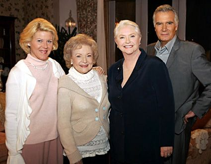 Susan Flannery  with her co-stars Alley Mills, Betty White and John McCook from