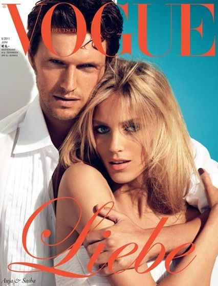 Sasha Knezevic, Anja Rubik - Vogue Magazine Cover [Germany] (1 June 2011)