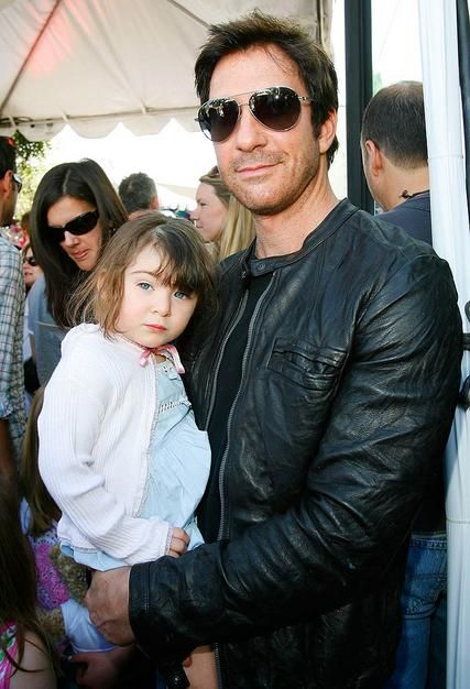 Dylan McDermott  and daughter Charlotte Rose