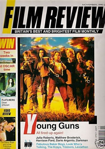Kiefer Sutherland - Film Review Magazine [United Kingdom] (November 1990)