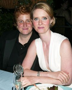 Cynthia Nixon  and Christina Marinoni