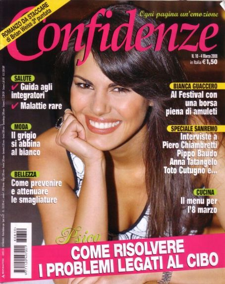 Bianca Guaccero - Confidenze Magazine Cover [Italy] (4 March 2008)