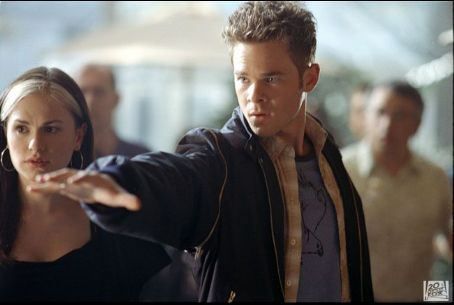Rogue Anna Paquin as  and Shawn Ashmore as Iceman in 20th Century Fox's X2: X-Men United - 2003