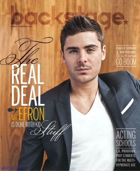 Zac Efron - Back Stage Magazine Cover [United States] (4 October 2012)