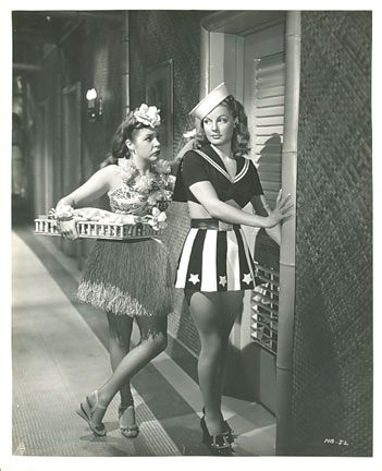 Martha Raye  with Ann Sheridan
