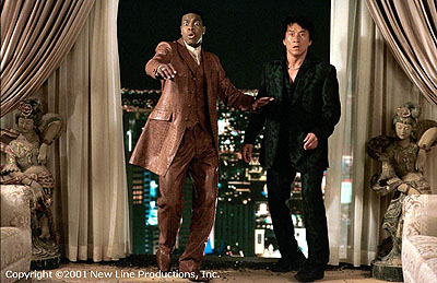 Chris Tucker and Jackie Chan in New Line Cinema's Rush Hour 2 - 2001