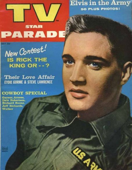 Elvis Presley - TV Star Parade Magazine [United States] (July 1958)