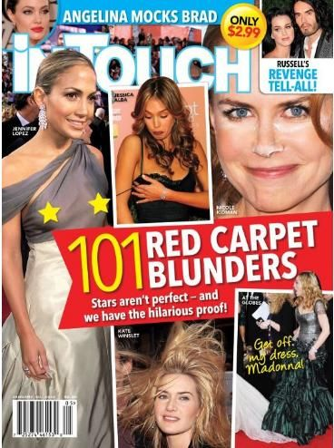 Jennifer Lopez, Jessica Alba, Kate Winslet, Nicole Kidman - In Touch Weekly Magazine Cover [United States] (30 January 2012)