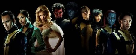 Emma Frost X-Men First Class Cast Poster (2011)