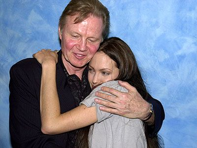 Jon Voight  & Daughter Angelina Jolie