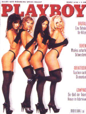 Lisa Boyle, Kerri Kendall, Patricia Ford, Barbara Moore - Playboy Magazine Cover [Germany] (March 1996)
