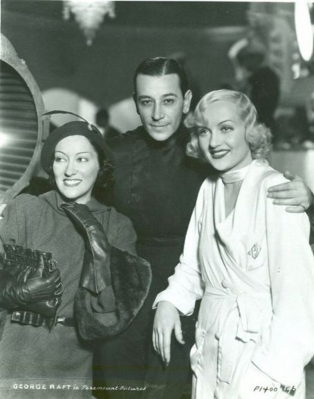 Carole Lombard and George Raft with Gloria Swanson