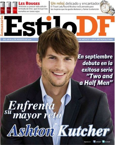 Ashton Kutcher - Estilo Df Magazine Cover [Mexico] (8 August 2011)