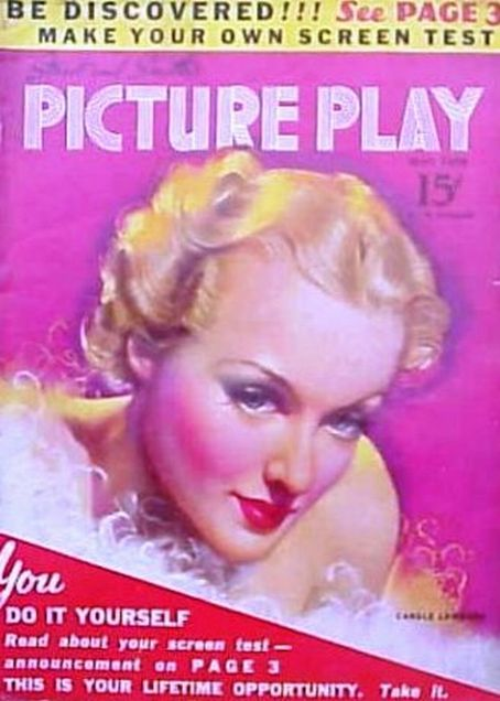 Carole Lombard - Picture Play Magazine [United States] (May 1938)