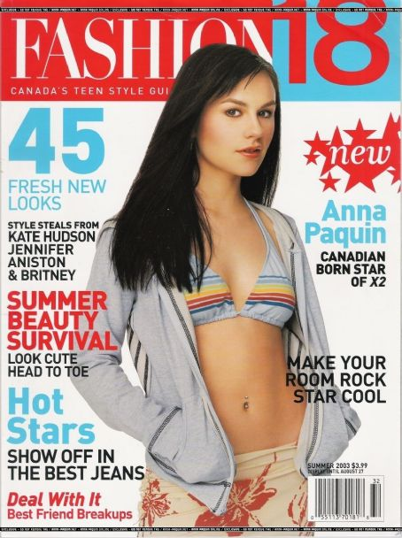 Anna Paquin - Fashion 18 Magazine Cover [Canada] (June 2003)