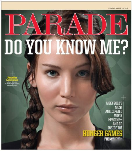 Jennifer Lawrence - Parade Magazine Cover [United States] (18 March 2012)