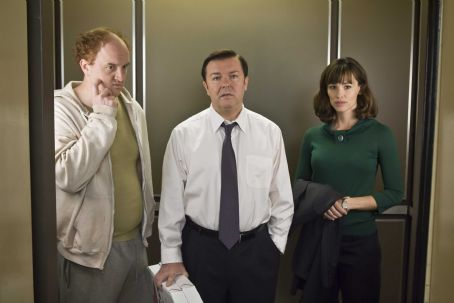 Louis C.K. (L-r) LOUIS C.K. as Greg, RICKY GERVAIS as Mark and JENNIFER GARNER as Anna in Warner Bros. Pictures', Radar Pictures' and Media Rights Capital's romantic comedy 'The Invention of Lying.'