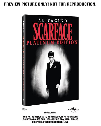 Tony Montana Scarface DVD Box Art left