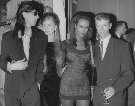 David Bowie - Ric and Paulina with David and Iman