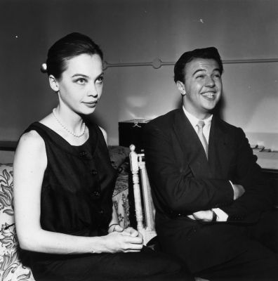 Leslie Caron  and Sir Peter Reginald Frederick Hall