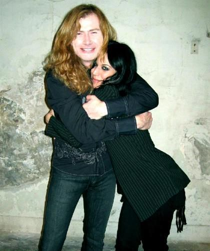 Dave Mustaine  and Cristina Scabbia
