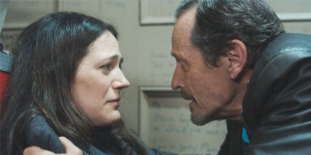 Stephen McHattie  as Grant Mazzy and Lisa Houle as Sydney Briar in PONTYPOOL, directed by Bruce McDonald. Photo Credit: Miroslaw Baszak. An IFC Films release