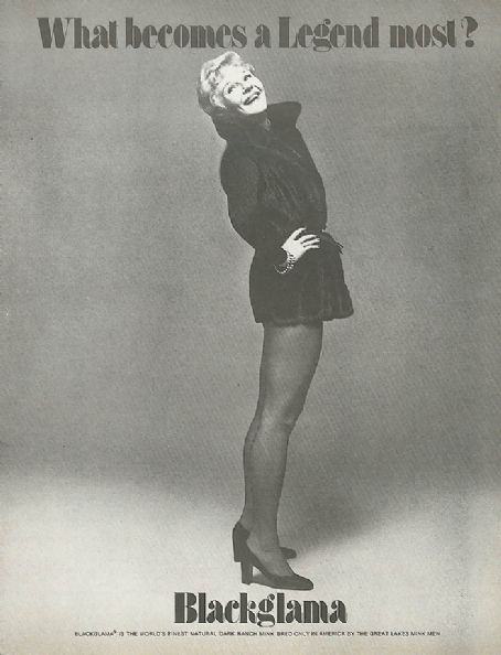 Mary Martin  in Blackglama ad