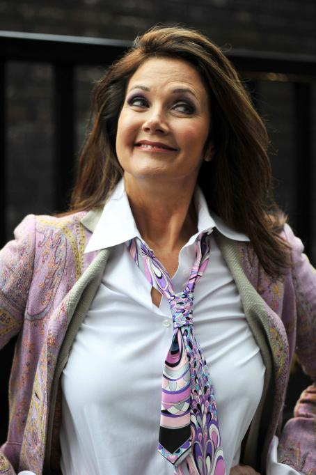 Lynda Carter - Leaving ITV Studios In London - September 14, 2010