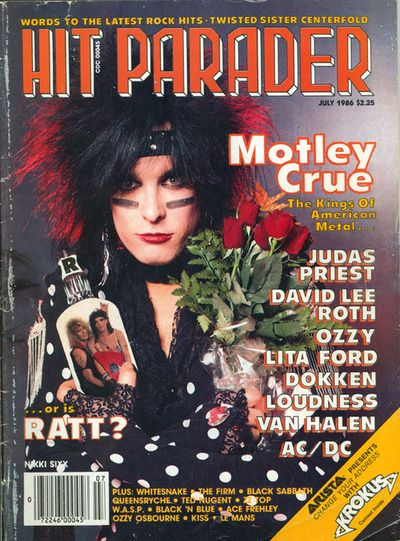 Nikki Sixx - Hit Parader Magazine Cover [United States] (July 1986)
