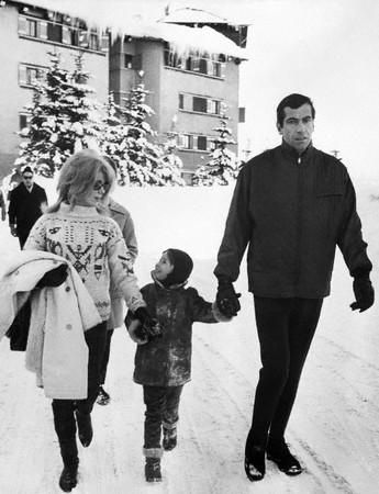 Roger Vadim  and Catherine Deneuve with Nathalie