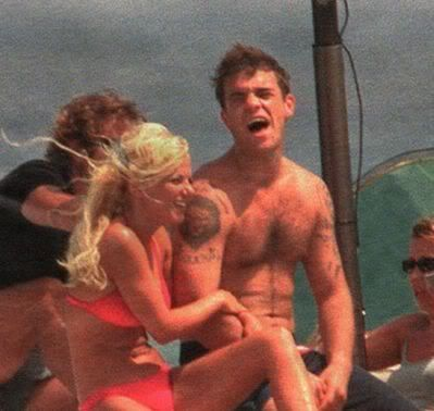 Geri Halliwell and Robbie Williams