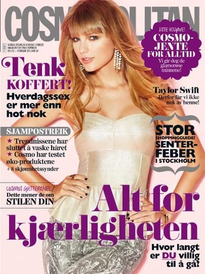 Taylor Swift - Cosmopolitan Magazine Cover [Norway] (February 2013)