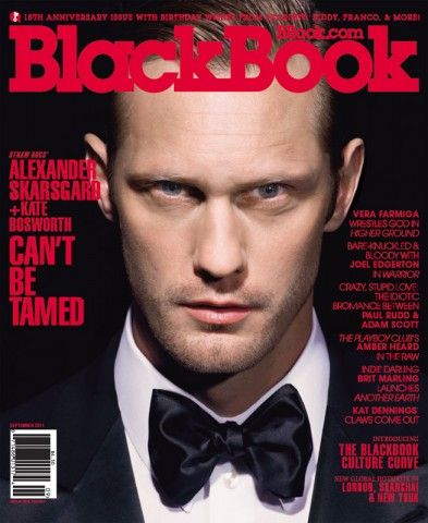 Alexander Skarsgård - Black Book Magazine Cover [United States] (September 2011)