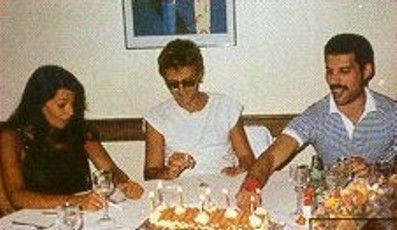 Roger Taylor  and Dominique Beyrand with Freddie Mercury