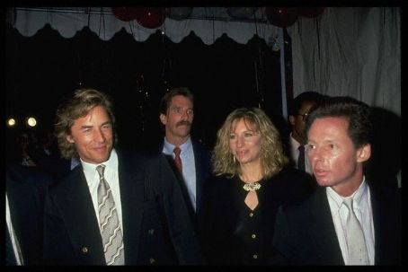 Barbra Streisand  and Don Johnson