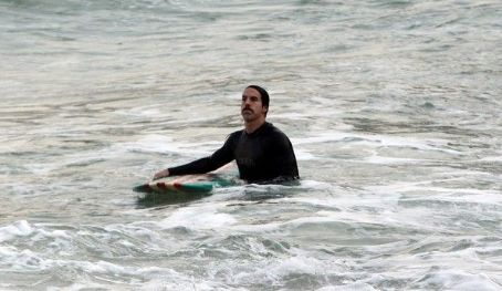 Anthony Kiedis Goes Surfing in Rio