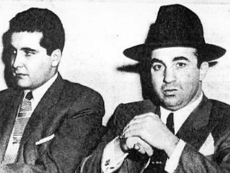 Johnny Stompanato  with Mickey Cohen