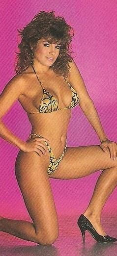 Brandi Downs  - Blast Swimsuit Poster Magazine Pictorial [United States] (August 1988)