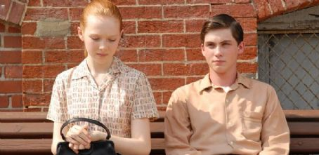 Molly C. Quinn  as Paula with Logan Lerman as George Hamilton in Richard Loncraine 'My One and Only.'