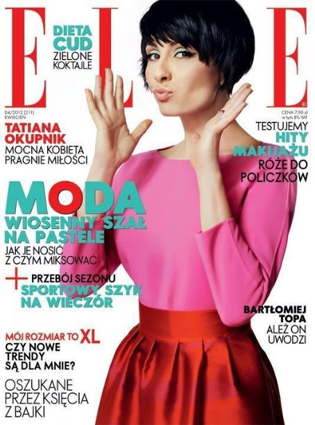 Tatiana Okupnik - Elle Magazine Cover [Poland] (April 2012)