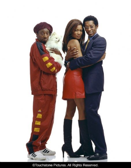 Eddie Griffin, Garcelle Beauvais and Orlando Jones in Touchstone's Double Take - 2001