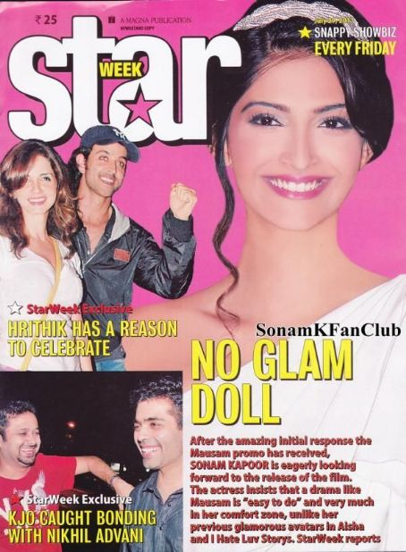 Sonam Kapoor - STAR WEEK Magazine Cover [India] (29 July 2011)